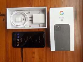 Google Pixel 5 128gb Just Black + Case