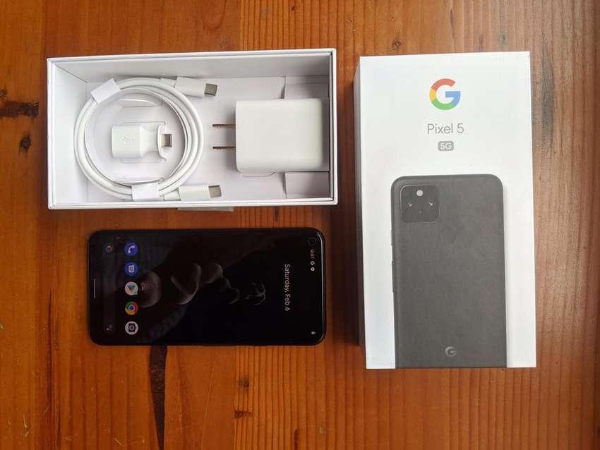 Google Pixel 5 128gb Just Black + Case 0