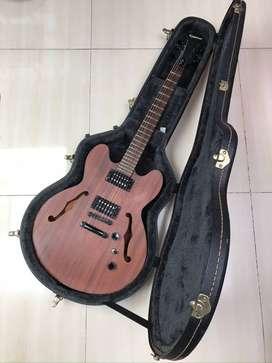 guitarra electric epiphone dotstudio wb con hard case