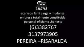 Acarreos fami Carga y mudanza (06) 3382767
