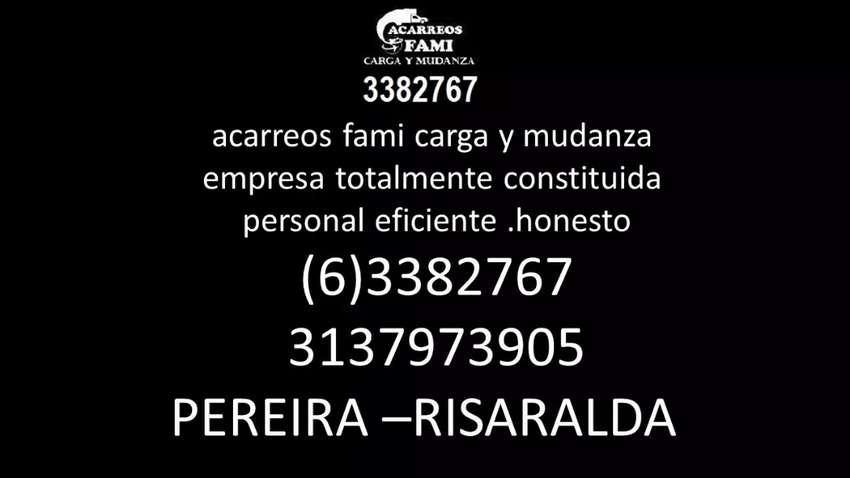 Acarreos fami Carga y mudanza (06) 3382767 0