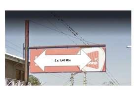 Vendo Cartel Doble Faz Backlight 5X1.40MTS