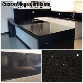 Cuarzo Galaxy Negro