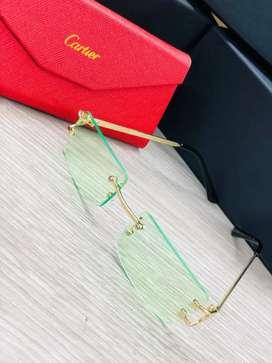 Gafas Lentes Monturas Cartier Lente colores Verde Azul Amarillo Negro Cafe