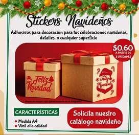 Stickers navideños para tus detalles, decoración y toda superficie