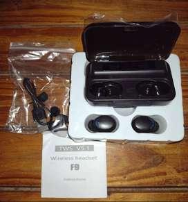 Auriculares inalámbricos F9-5 negro (NUEVO)