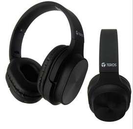 Audifonos Bluetooth Teros Te-8080, con ranura Para Tarjeta Sd Nuevo
