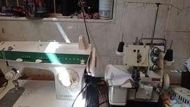 Se vende maquina de coser y fileteadora familiar