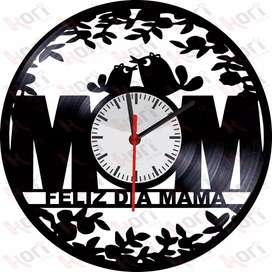 Reloj en disco  vinilo LP/ vinyl clock  para día de  madres