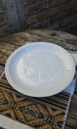 Plato blanco para torta 31,5 cm diámetro porcelana Tsuji