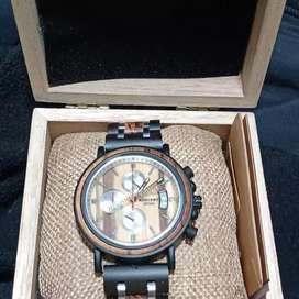 Venta de relojes de Bambú y acero inoxidable