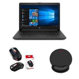 Combo Portatil HP 255 G7 AMD Athlon 4 GB 500 GB 15.6 Windows 10 Home + Mouse Genius X-G200 + Pad Mouse Genius G-WMP 100