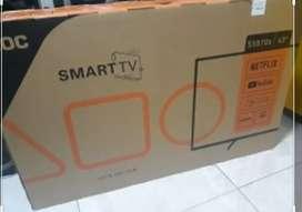 """Tv AOC de 43"""" de regalo un rack solo tiene un mes de uso esta en su caja"""