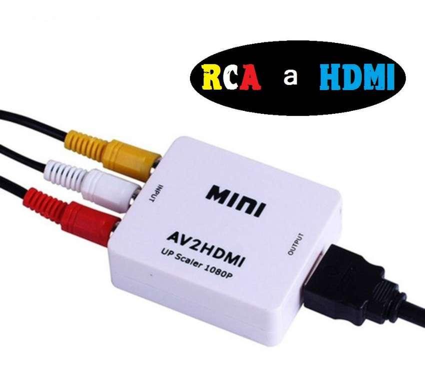 Convertidor Adaptador AV2 (RCA) a Hdmi