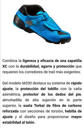 Zapatilla M200 shimano azul eléctrico edición limitada