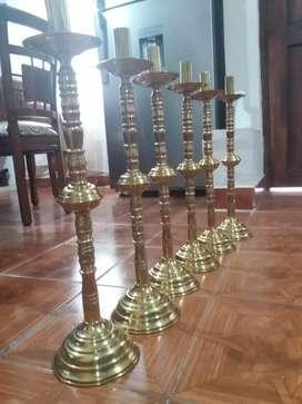 Hermosos candelabros en bronce antiguos
