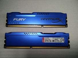 Memoria Kingston HyperX Fury disipada 8 Gb DDR3 1600 MHz