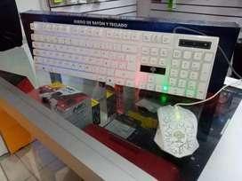 Combo mouse teclado gamer