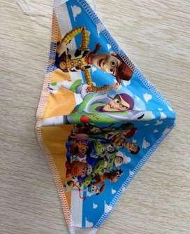 Tapabocas, caretas para niños