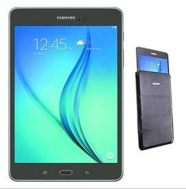 """Samsung Galaxy Tab A 8.0"""" 16GB SM-T350 Smoky Titanium c/ Pouch"""
