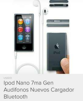 iPod Nano 7generación 16gb Blanco Blueto