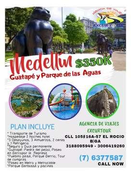 Tour de luces Medellín y parque las aguas  salida de Bucaramanga