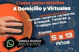 CLASES PERSONALIZADAS Y REFUERZOS PARA NIÑOS