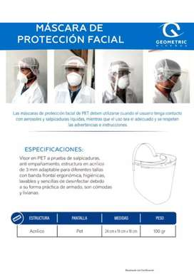 Máscara De Protección Facial GEOMETIC  Registro Invima 20958