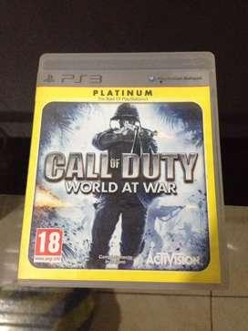 Vendo Call of Duty World at War ps3