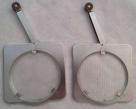 Dos (2) Vintage Sylvania Sun Gun Luz de Cristal Filtros de Lente SG 602 C