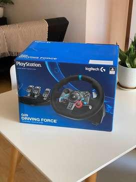 Volante con pedalera Logitech G29 PS3/PS4