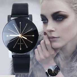 reloj soleil rayas mujer dama cuero analogo ilusion of time