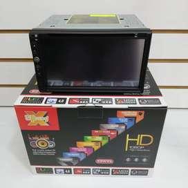 Pantalla táctil 7 pulgadas 2Din CD DVD Mirrorlink Bluetooth USB SD Aux Cámara de retro GRATIS!!