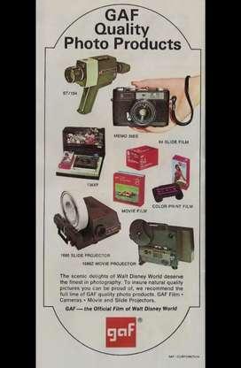 Tecnología antigua. Video cámaras/Proyector