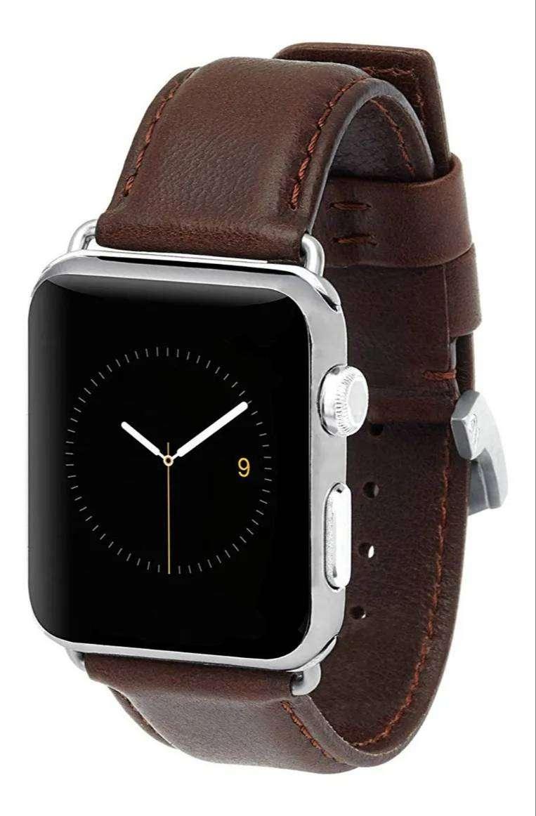 Correa De Cuero Genuino Case Mate Usa Apple Watch 42mm 44mm Series 1 2 3 4 5 6 SE 2020