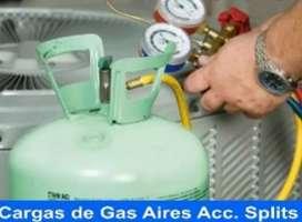 AIRE ACONDICIONADO CARGA GAS ECOLOGICO GARANTIA