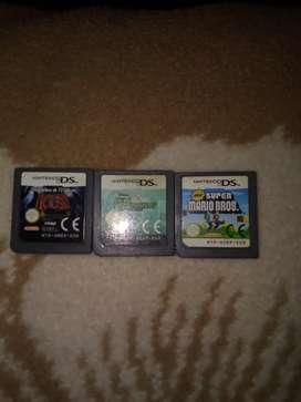 Vendo 3 juegos de Nintendo DS en buen estado