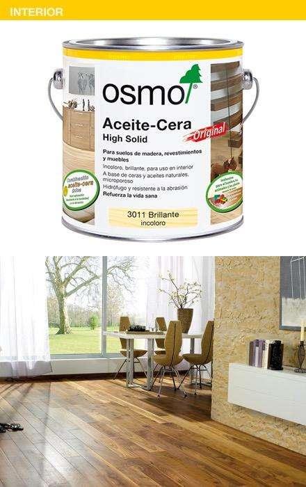 Cera aceite Osmo para madera ideal para pisos interiores , muebles , mesones de cocina extra proteccion UV 0