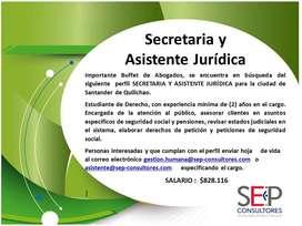 SECRETARIA Y AUXILIAR JURÍDICA