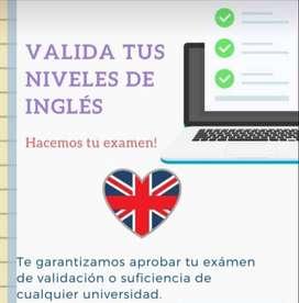 Examenes de Ingles
