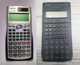2 calculadoras CASIO FC-200V financiera + CASIO FX-350TL Cientifica