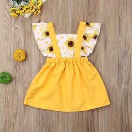 Vestido para Niña Girasoles