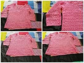 Blusa rodada en crochet nueva