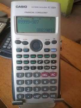 Calculadora financiera fc-100v cálculos financieros tasas de retorno valor presente y otros