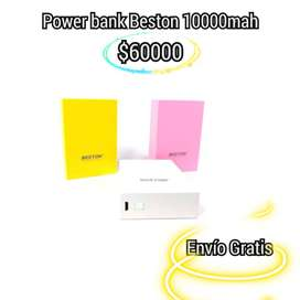 POWER BANK BESTON 014 , 10000 MaH, 4 CARGAS TOTALES. INDICADOR DIGITAL