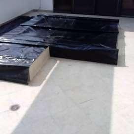 Protector para piscinas o jacuzzi en lona y perfileria de hierro