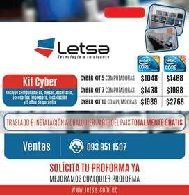 TU CYBER con 10 COMPUTADORAS $1989 + GARANTÍA (OBSEQUIO) !!! LLÁMANOS