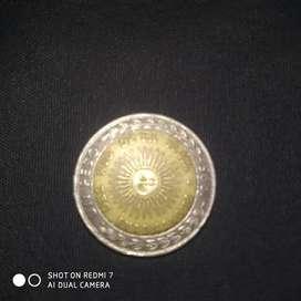 Moneda de 1 peso con error provingias