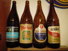 Antiguas Botellas 1lt Cervezas 1970s