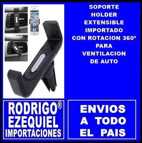 SOPORTE HOLDER EXTENSIBLE IMPORTADO CON ROTACION 360º PARA VENTILACION DE AUTO IMPORTADO 0